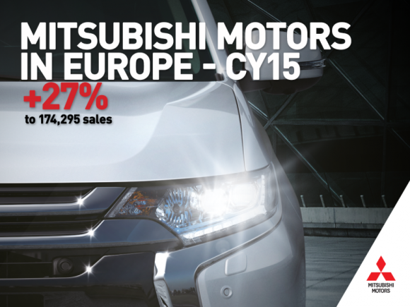 27% wzrost sprzedaży Mitsubishi Motors w Europie w 2015 roku!