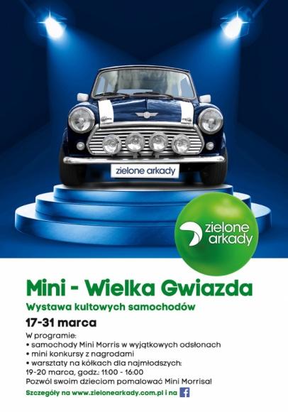 Wystawa Mini Morris'ów w Zielonych Arkadach